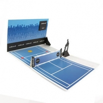 Tennis Court als 3D-Pop-Up-Mailer